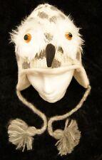 Gray OWL HAT knit ADULT ski cap FLC LINED animal costume rice university grey