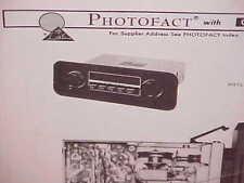 1972 VOLKSWAGEN SUPER BEETLE CONVERTIBLE SEDAN AM-FM RADIO SERVICE SHOP MANUAL