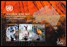 United Nations UN 2017 FIAP 34th Asian Int'l Stamp Exhib Melbourne- M/S FDC