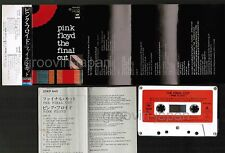 PINK FLOYD The Final Cut JAPAN CASSETTE TAPE 25KP845 w/Picture Sleeve+Insert