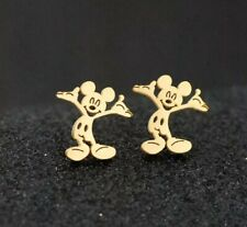 Disney Mickey Mouse CZ Gold Plated Stud Earrings Christmas birthday 939