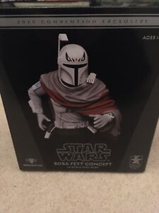 2020 SDCC EXCLUSIVE GENTLE GIANT STAR WARS BOBA FETT CONCEPT BUST #354/500