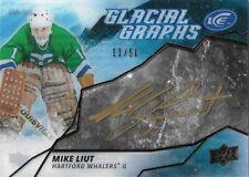 Mike Liut #GG-ML - 2019-20 Ice - Glacial Graphs Black Inscription - 11/50