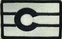 COLORADO Flag Patch With VELCRO® Brand Fastener Black & White Black Border #2