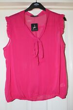 Atmosphere Cerise Pink Semi Sheer Top Size 20 New