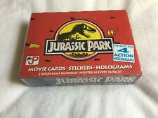 Vintage 1992 Jurassic Park Movie Cards - Topps Box - Factory Sealed -Mint Rare !