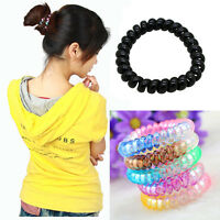 5Pcs Spiral Slinky Elastic Rubber Tie Wire Coil Hair Bands Rope Ponytail Hot,PRO