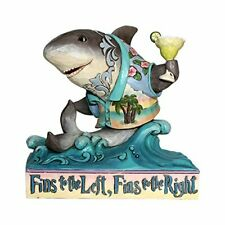 Enesco Margaritaville by Jim Shore Pint Sized Shark on Wave Fins up! Figurine