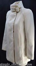 MNG by mango cream warm winter coat peacoat trench jacket car coat Size XXS EUC