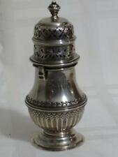 George Nathan Ridley Hayes 1904 Sterling Muffineer Caster Monogrammed ERM 4 7/8""