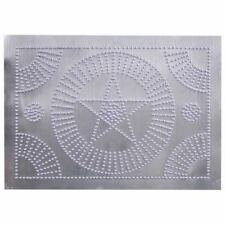 STAR CIRCLE Panel in Unfinished Tin