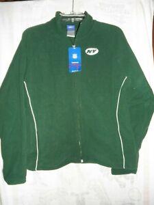 Reebok Women's/ Ladies New York Jets Full Zip Fleece Jacket, Size Large, NWT