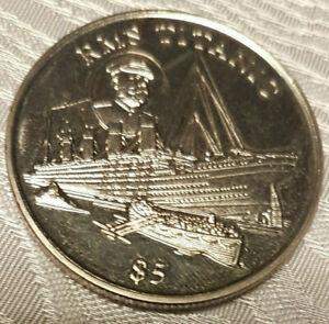 RMS Titanic 5 Dollars, Republic of Liberia, Material ?