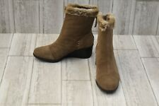 Aerosoles Bravery Suede Ankle Boots - Women's Size 5.5 - Taupe NEW!