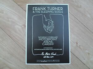 FRANK TURNER AND THE SLEEPING SOULS - lovely tour flyer (MINT)