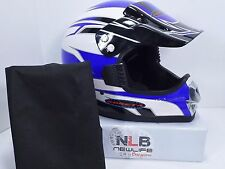 Roket A Motorcycle Helmet with cloth cover Medium 57-58 Blue/White/Black