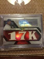 2008 topps triple threads johan Santana Autograph/Jersey #ed to 18