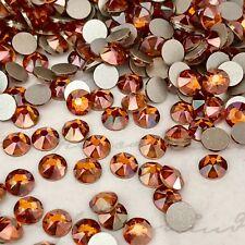 Swarovski Crystal Glue on 100 x SS20 Copper orange effect Diamantes rhinestones