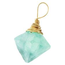 Fluorite Collier Naturel Cristal Nature Pierre Pendentif pour Femmes Bijoux