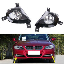 1 Pair Front Bumper Clear Fog Lights Replace Fit for BMW E90 E91 328i 335i 4D