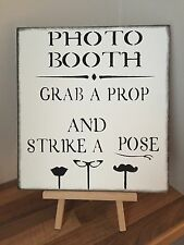 Wooden Party Wedding Sign Photo Booth Shabby Chic Vintage decoration reception