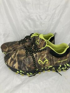 Mens Realtree Tiger Green Camo Non Slip Size 9 Hiking Work Athletic Shoes