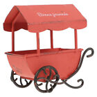 1pc Retro Vintage Tinplate Art Craft Cart Trolley Model for Gift Home