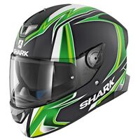 SHARK SKWAL 2 - SYKES KGW Matt Black / GREEN Motorcycle Full Face helmet  ZQ