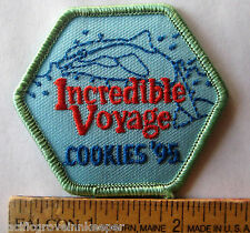 Girl Scout 1995 COOKIE SALE PATCH Incredible Voyage Dolphin Ocean Waves