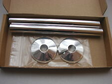 Talon Snappit Pipe Covers for Radiator Tails with 15mm Collars (Chrome pair)