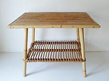 TABLE BASSE ROTIN  DESIGN ANNÉES 50 VINTAGE LOFT 1950