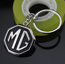 Quality 3D Zinc Alloy Auto Car LOGO Keychain Key chain ring Fob Black Fit for