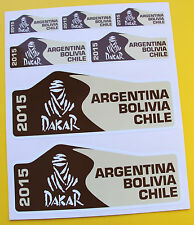 Motorbike DAKAR 2015 Rally Plate style Sponsor Stickers ideal for KTM BMW etc