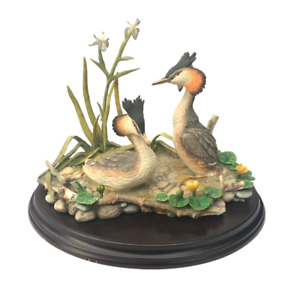 Country Artists Birds Great Crested Grebe Pair Hand Painted/Crafted