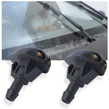2pcs Plastic Car Window Windshield Washer Spray Wiper Sprinkler Nozzle Black