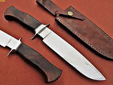 Custom Made D2 Steel Hunting Bowie Knife (Rose Wood Handle)