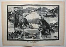 Achensee, Pertisau - Max Haushofer Jr. und Tony Grubhofer - 2 Holzstiche 1889