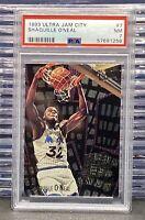 🔥1993-94 Fleer Ultra Shaquille O'Neal #7 Jam City PSA 7 Magic Lakers HOF *POP8*