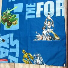 Star Wars The Force Pillow Case Yoda Luke Princess Leia C3PO R3D2 Darth Vader