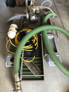 """Keene 4"""" Gold Dredge, with Honda Motor pump compressor and accessories"""