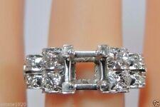 Antique Vintage Ring Setting Mount Platinum Hold 6.5MM Ring Size 6 UK L1/2 Fine