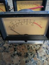 (2) Vintage Weston 2032 1932 VU Meter DB Audio Level Indicator Panel Mount pair