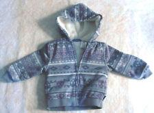 Hoodie Fleeced Jacket Gray w/Winter Designs Miniville Unisex 24 Months
