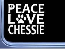 "Chesapeake Bay Retriever Peace Love L670 Dog Sticker 6"" decal"