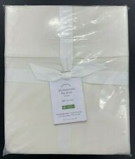 Pottery Barn Essential 300-Thread-Count Flat Sheet, Full, Ivory, Free Shipping