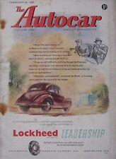 Autocar magazine 20/2/1953 featuring Hillman Minx cutaway drawing