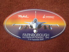 AUTOCOLLANT STICKER AUFKLEBER DASSAULT AVIATION RAFALE FARNBOROUGH 1996