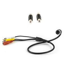 4 Pin Female to Male RCA AV Cable Lead Adaptor For CCTV & Reverse Cameras