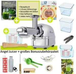 Angel Juicer 5500 Saftpresse Sellerie Entsafter Edelstahl mit MEGA ZubehörSet