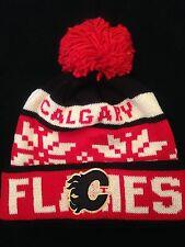 Calgary Flames NEW Winter Knit Hat . NHL Hockey OSFM Warm Men Women Fan Cap Pom